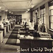 Image of telephone technology labeled 'Silent Unity Dept'